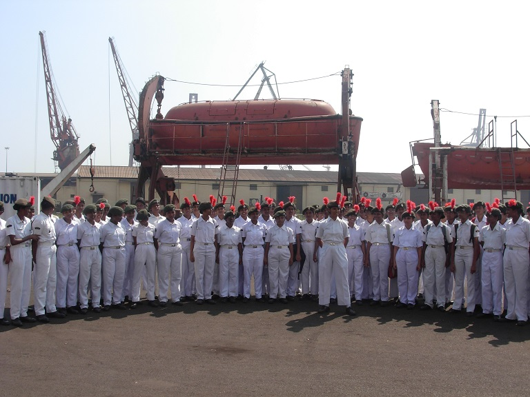 Cadets in Chennai Port for Boat Pulling Practice
