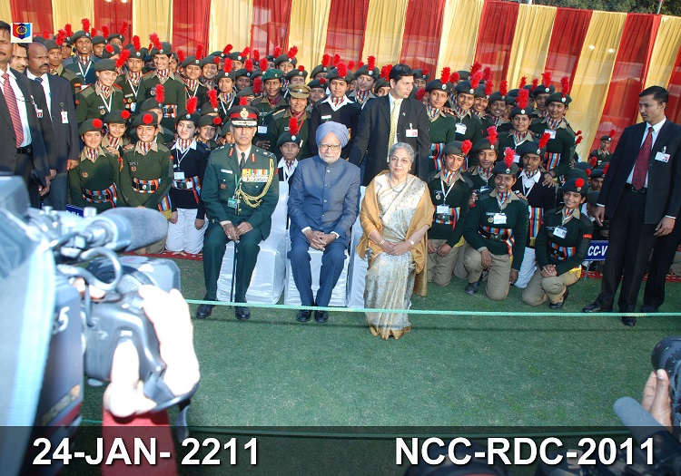 Our Cadet INDHU with PM during RDC Camp